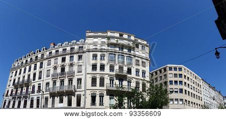 Panoramic View Of Buildings In Lyon