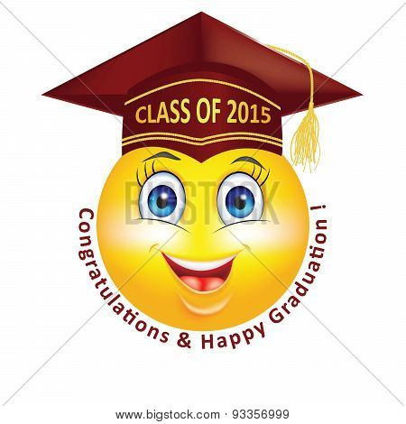 Happy Graduation smiley for Class 2015.
