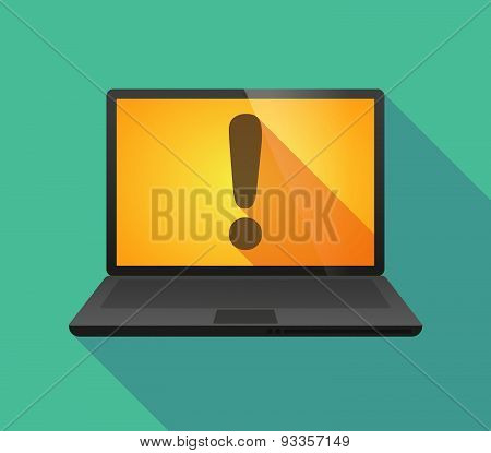 Laptop Icon With An Exclamation Sign
