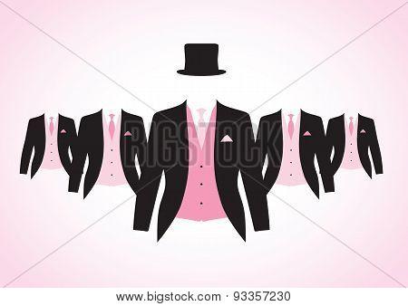 set of men's suits