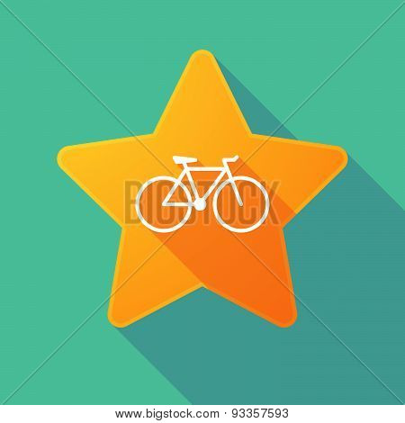 Long Shadow Star With A Bicycle