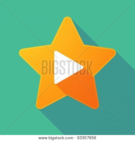Long Shadow Star With A Play Sign