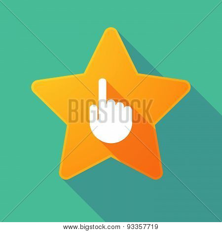 Long Shadow Star With A Pointing Hand
