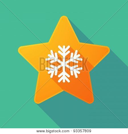 Long Shadow Star With A Snow Flake