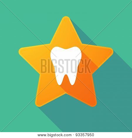 Long Shadow Star With A Tooth