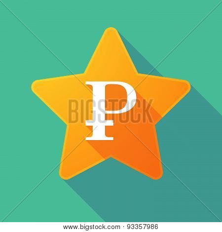 Long Shadow Star With A Ruble Sign