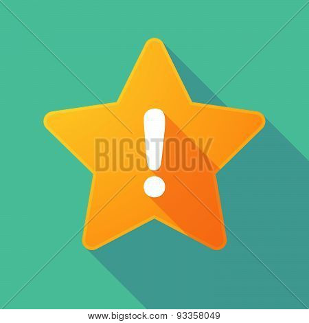 Long Shadow Star With An Exclamation Sign