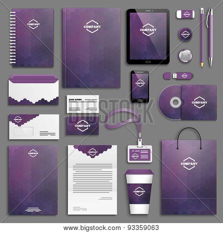 Corporate identity template set - purple
