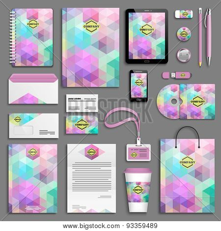 Corporate identity template set - pink