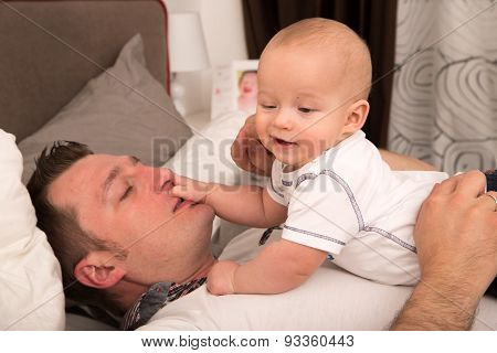 Father Playing With His Son.