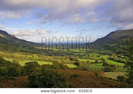 Glenariff Valley In The Autumn Sunshine