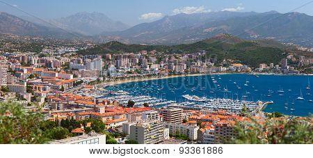 Aerial view of the Ajaccio. Corsica, France.