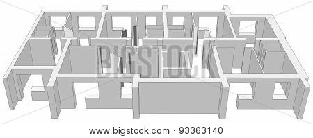 Building plan. Vector