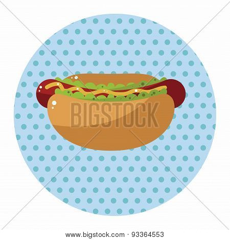 Fried Foods Theme Hot Dog Elements