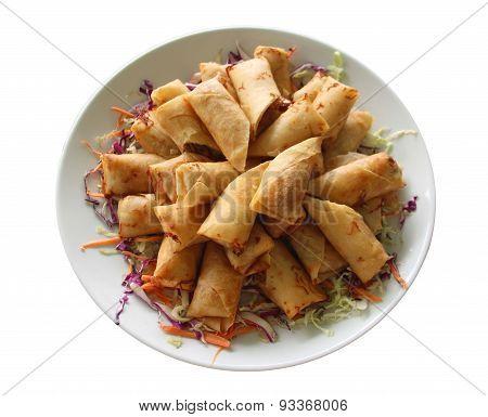 Spring Rolls With Shrimp Thai Food