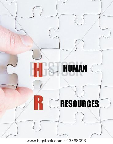 Last Puzzle Piece With Business Acronym Hr