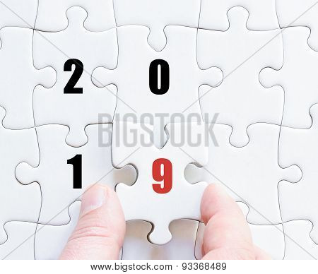 Last Puzzle Piece With Year 2019