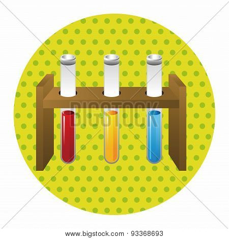 Test Tubes And Beakers Theme Elements