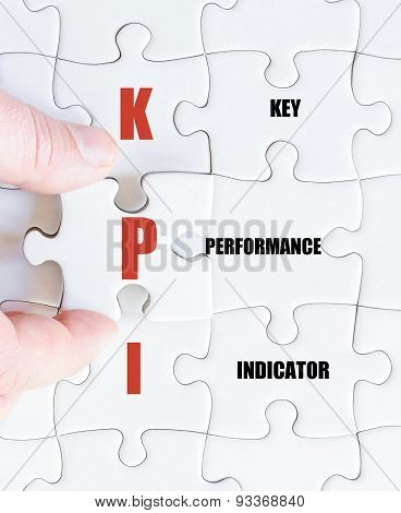 Last Puzzle Piece With Business Acronym Kpi