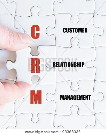Last Puzzle Piece With Business Acronym Crm