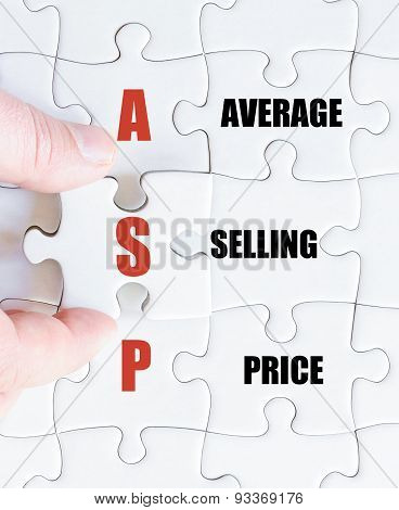 Last Puzzle Piece With Business Acronym Asp