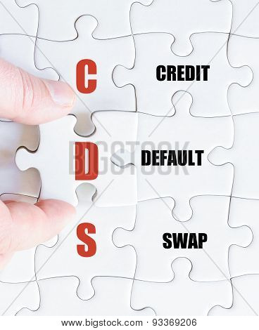 Last Puzzle Piece With Business Acronym Cds
