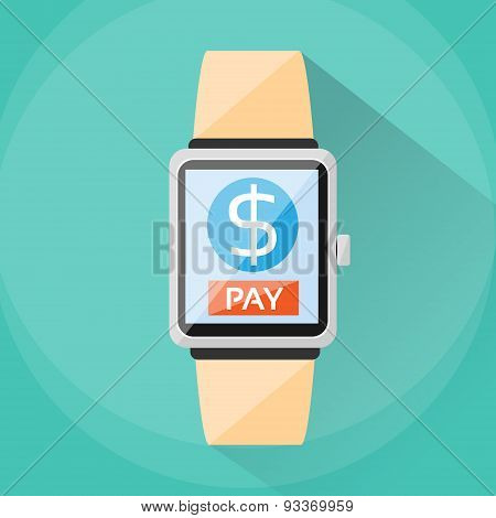 Smart Watch Payment Wearable Apps Pay Technology
