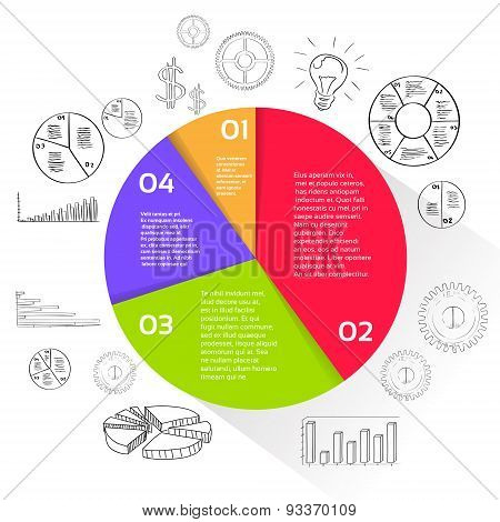 Finance Pie Diagram Circle Infographic with Financial Business