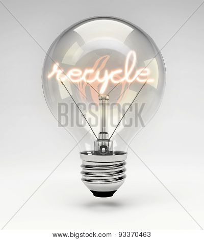 Conceptual Light Bulb (set) - Recycle