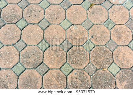 Octagon Brick Walkway