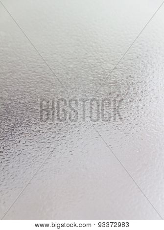 Drop On Glass Background.