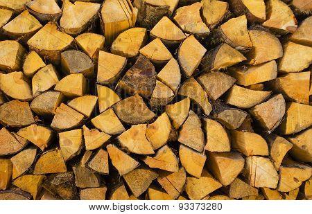 Timber background closeup
