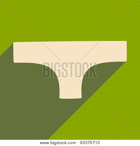 Flat with shadow icon and mobile applacation underwear