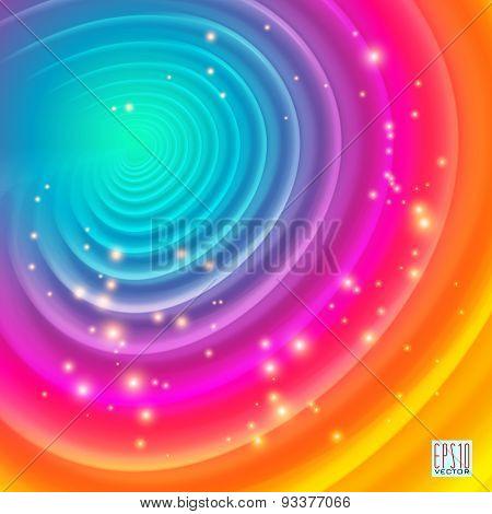 Multi color swirl Background