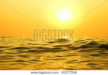 Sky Background And Sea On Sunset