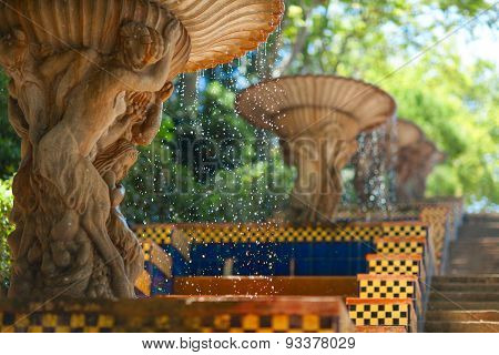 Museum of Catalonia fountains. Barcelona, Spain