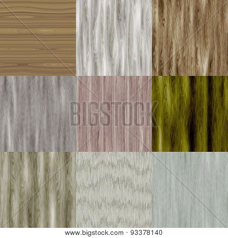 Set of Old Wood Seamless Generated Texture