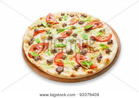 Delicious Seafood Pizza With Tomatoes