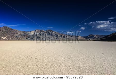 The Racetrack Playa In Death Valley National Park In California State