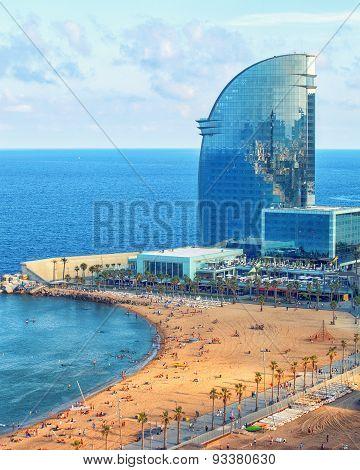 View of Barcelonetta beach