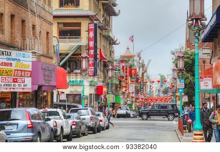 China Town Main Street In San Francisco