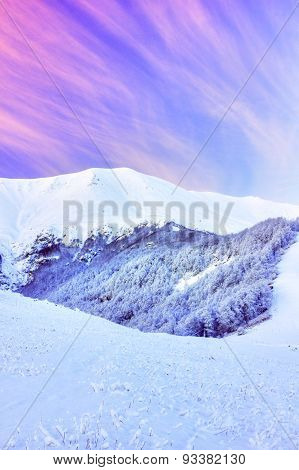 Beautiful winter mountain landscape