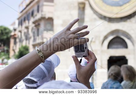 Hands With Mobile Phone