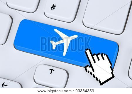 Booking Flight And Holidays Online Internet Travel Shop