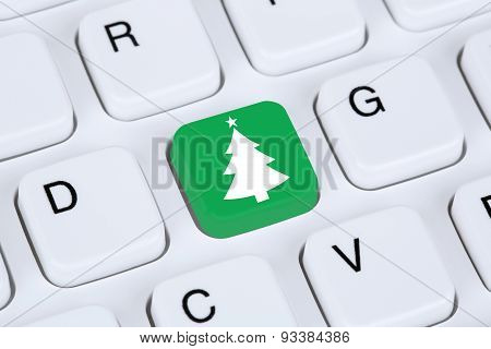 Christmas Tree Online Shopping E-commerce Internet