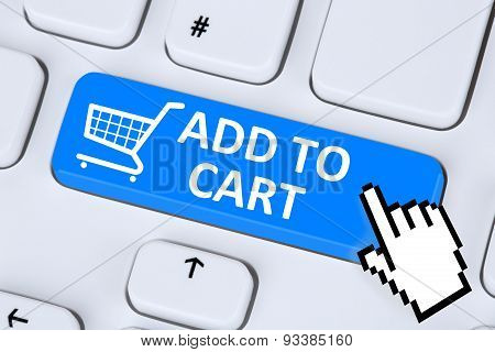 Add To Cart Online Shopping Ordering Internet Shop Concept