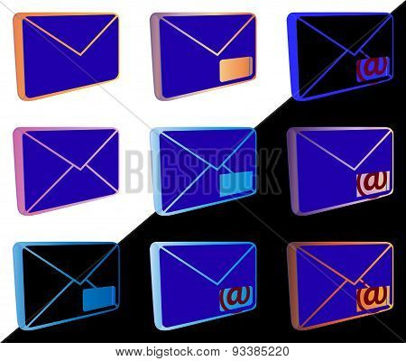 Mail Icons For Web Design Etc.
