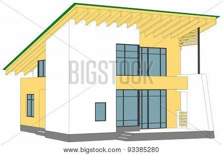House on white