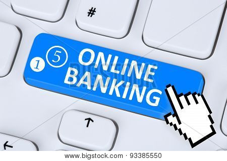 Internet Online Banking Financial Transaction On Computer