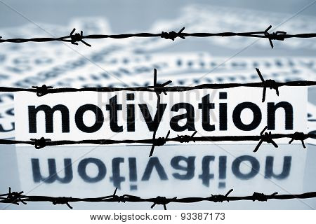 Motivation And Barbwire Concept